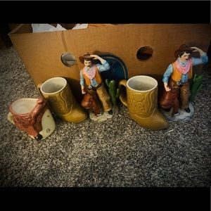Western Cowboy Southern 5 piece bundle Boots & Man